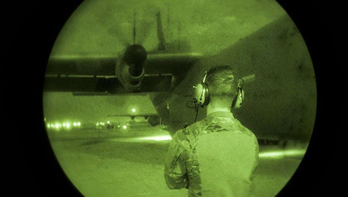 Airmen conduct airdrop