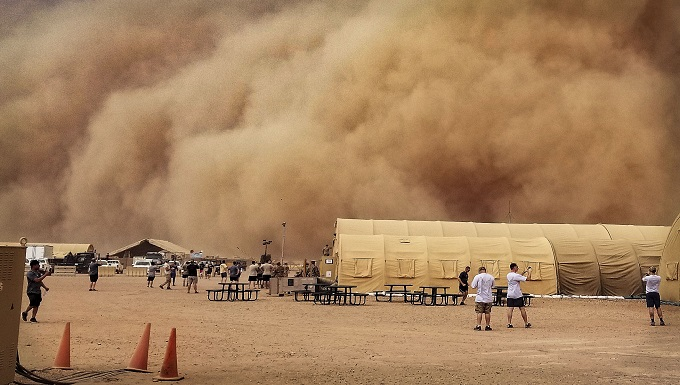 Holloman weather airmen preps nigerien air base 201 for sand storms