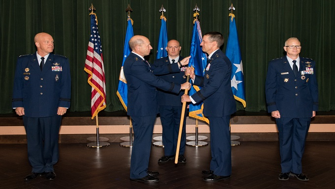 24th AF Changes Command during ceremony