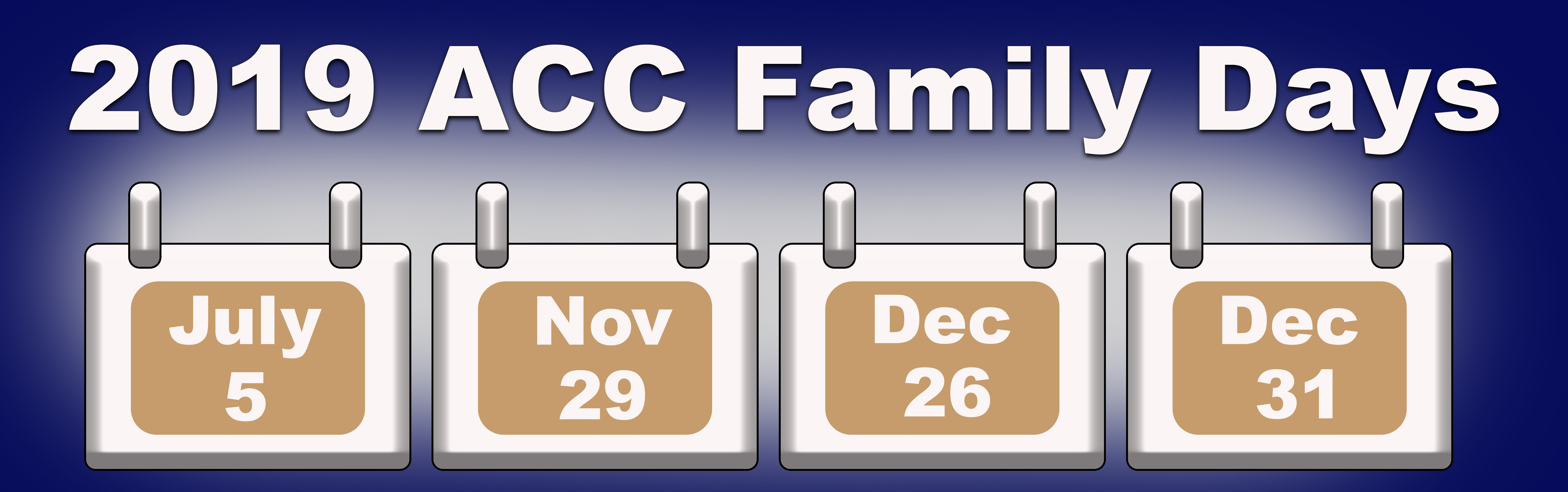 Graphic of Air Combat Command Family Days Calendar