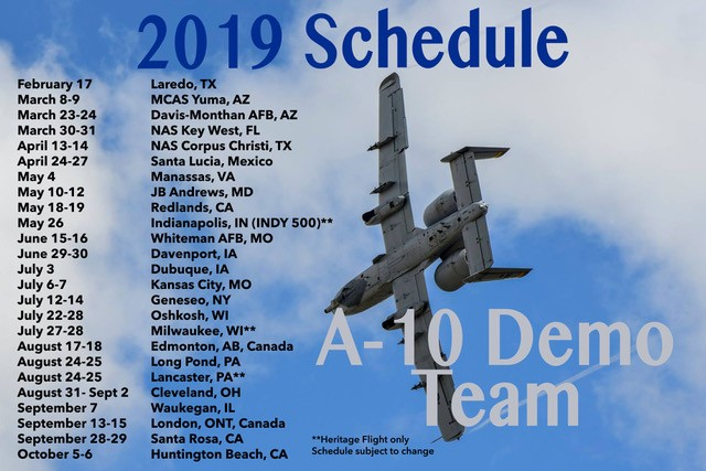 Air Show Cleveland 2020.A 10 Demo Team